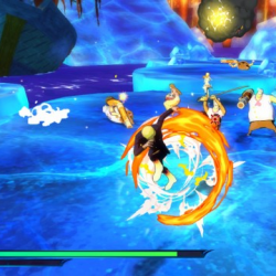 Fais gaffe Sanji, la glace va fondre à cause de ton attaque !